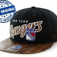 Sapca '47 New York Rangers - originala - flat brim - snapback - oficiala NHL - Sapca Barbati, Marime: Marime universala, Culoare: Din imagine