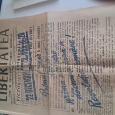 Primul numar al ziarului Libertatea din 22 decembrie 1989 Revolutie - Ceausescu - Carte Editie princeps