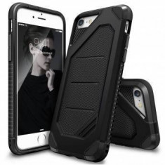 Husa Protectie Spate Ringke Armor Max Black pentru Apple iPhone 7 si folie protectie display - Husa Telefon Ringke, iPhone 7/8, Plastic, Carcasa