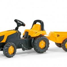 Tractor Cu Pedale Si Remorca Copii ROLLY TOYS 012619 Galben - Vehicul