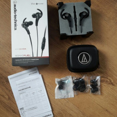 Casti Audio Technica Originale in stare perfecta, ca noi, Casti In Ear, Cu fir, Mufa 3, 5mm