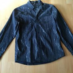 Camasa cu sclipici Levi's Blue - Camasa barbati Levi's, Marime: L, Culoare: Negru