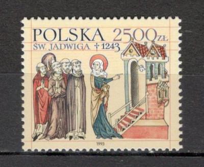 Polonia.1993 750 ani moarte Sf.Hedwig  SP.532 foto