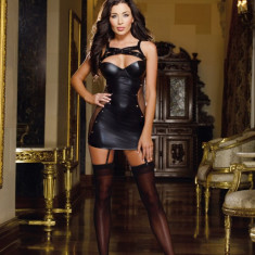 Rochie Sexy din Latex Wendy, Marime: M, Marime universala, Culoare: Negru