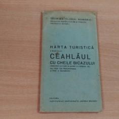 HARTA TURISTICA A MASIVULUI CEAHLAUL CU CHEILE BICAZULUI-ING. PROF.ION PROTOPOPESCU-PROF. N. MACAROVICI