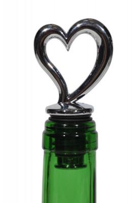 Dop decorativ inima sticla vin foto