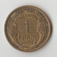 Moneda 1 franc 1937 - Franta, Europa