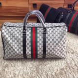 Geanta de voia/sala/umar/mana/gym/travel bag Gucci Monogram Grey REDUCERE!!! - Geanta voiaj