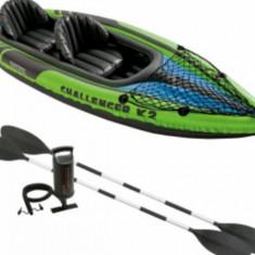 Caiac Challenger K2 Intex, pneumatic, cu vasle si pompa - Caiac Canoe
