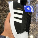 Adidas Superstar negru cu alb marimi de la 36 la 39 - Adidasi dama, Marime: 37, 38