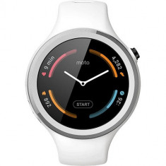 Smartwatch Motorola Moto 360 42MM 2nd Gen Sport Silicon Alb