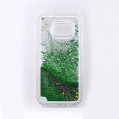 Carcasa Tellur pentru Samsung Galaxy S7 cu lichid si sclipici Verde