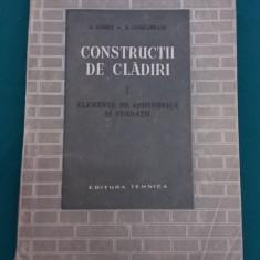 CONSTRUCŢII DE CLĂDIRI/VOL.I*ELEMENTE DE GEOTEHNICĂ ŞI FUNDAŢII/S. ANDREI/ 1966