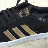 Adidas Superstar negru cu auriu marimi de la 36 la 40 - Adidasi dama, Marime: 37, 38, 39