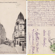 Oradea -tramvai, animata - Carte Postala Crisana pana la 1904, Circulata, Printata