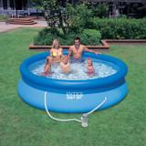 Piscina Easy Set INTEX 305x76cm, cu pompa de filtrare+BONUS, noua - Piscina copii, Bleu
