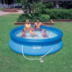 Piscina Easy Set INTEX 305x76cm,cu pompa de filtrare+BONUS, noua, Bleu