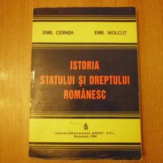 ISTORIA STATULUI SI DREPTULUI ROMANESC / E. CERNEA; E. MOLCUT - Carte Istoria dreptului