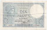FRANTA 10 FRANCI 1940 XF