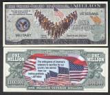 NOU : SUA = FANTASY NOTE =  VETERANII  AMERICANI  - 2017 - UNC