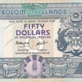 Bancnota Insulele Solomon 50 dolari (1986) - P17 UNC ( serie B/1 )