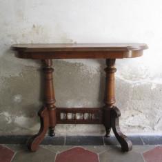 Consola antica, masa veche de perete, lemn