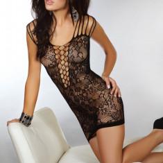 Rochie Sexy din Plasă Sheetal LivCo - Camasa de noapte, Marime: Marime universala, Culoare: Negru
