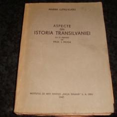 Marina Lupas Vlasiu - Aspecte din Istoria Transilvaniei - Sibiu 1945-cu autograf - Carte veche