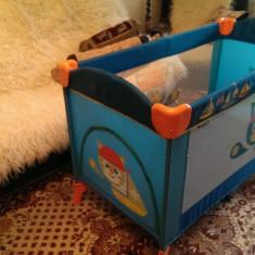 Pat copil portabil Bertoni Arena Aquamarine cu doua niveluri - Patut pliant bebelusi Bertoni, 120x60cm, Albastru