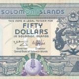 Bancnota Insulele Solomon 50 Dolari (1996) - P17 UNC ( serie C/1 - numar mic )