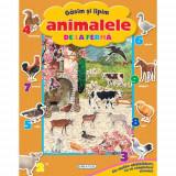 Gasim si Lipim Animalele de la Ferma - Carte de colorat
