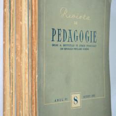 Lot reviste REVISTA DE PEDAGOGIE, anii '50 - Revista culturale