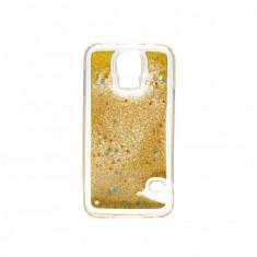 Carcasa Tellur pentru Samsung Galaxy S7 Edge cu lichid si sclipici Galben
