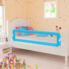 Barieră de protecție pentru pat copii mici 150 x 42 cm, albastru - Protectie patut