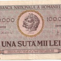 ROMANIA 100000 LEI 1947 XF