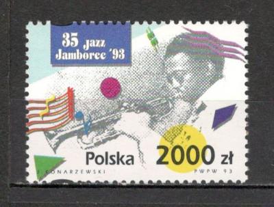 Polonia.1993 Ziua internationala a muzicii jazz  SP.530 foto