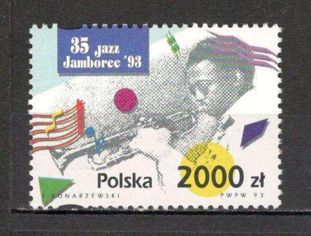 Polonia.1993 Ziua internationala a muzicii jazz  SP.530 foto mare