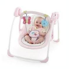Leagan/balansoar bebe - Balansoar interior Bright Starts, Roz
