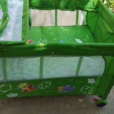 Pătut - Patut pliant bebelusi 4baby, 115X85cm, Verde