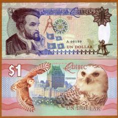 NOU : FANTASY NOTE = CANADA, QUEBEC - 1 DOLAR - 2016 - UNC - bancnota america