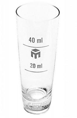 Pahar din sticla gradat 20/40ml foto