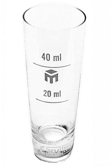 Pahar din sticla gradat 20/40ml foto mare