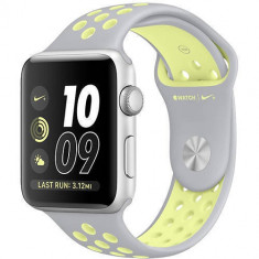 Smartwatch Apple Watch 2 Nike Plus Silver Aluminium Case 38mm Silicon Silver/Yellow Band