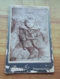 Cdv atelier Marosvasarhely Targu Mures carton portret copil