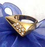 Inel -Placat cu aur 18K si Swarovski- marimea 5 ,15mm