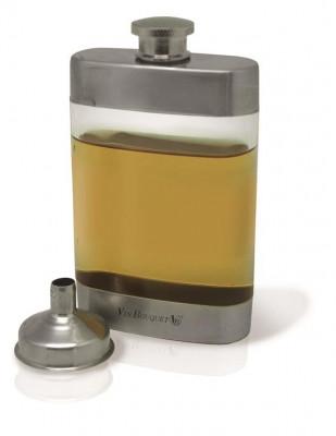 Sticla transparenta cu inox foto