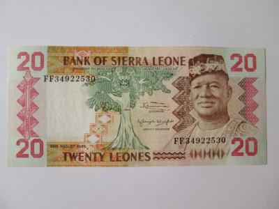 Sierra Leone 20 Leones 1984 foto