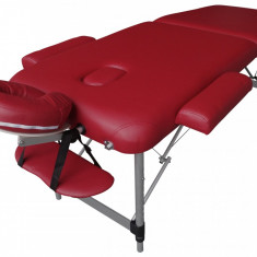 Pat, masa masaj pliabil, portabil de aluminiu  cu Factura si Garantie
