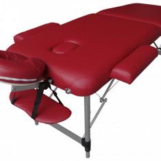 Pat, masa masaj pliabil, portabil de lemn cu Factura si Garantie
