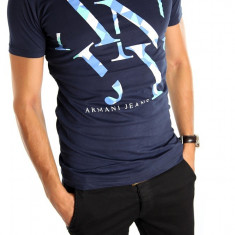 ● Tricou armani ● bleumarin● Pentru barbati ●barbati ● 4780 - Tricou barbati, Marime: M, L, XL, Culoare: Din imagine, Maneca scurta